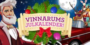 Vinnarum julkalender 2017 - julfirande med pengar och free spins i potten!
