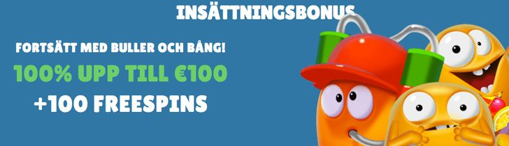 Cashmio casino insättningsbonus upp till 1000SEK och 100 freespins