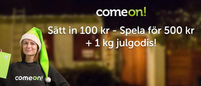 ComeOn Casino julkampanj ger dig 1 kg julgodis
