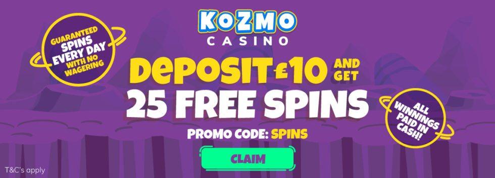 Kozmo casino no deposit