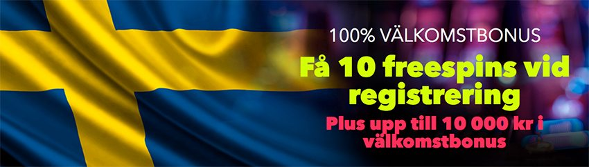 Få hos NightRush casino 10 gratis freespins