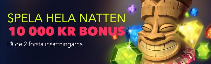 NightRush casino välkomstbonus upp till 10 000 kr
