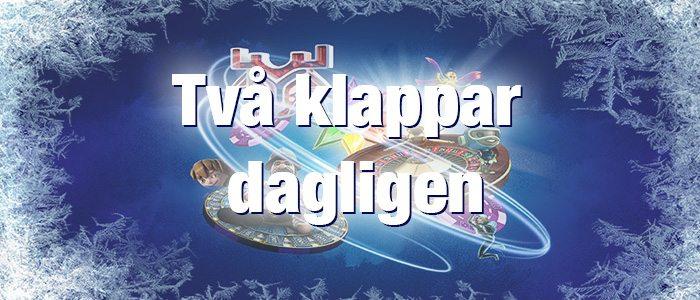 Nordicbet julkalender 2 klappar dagligen var med i utlottningen av 2 miljoner kronor
