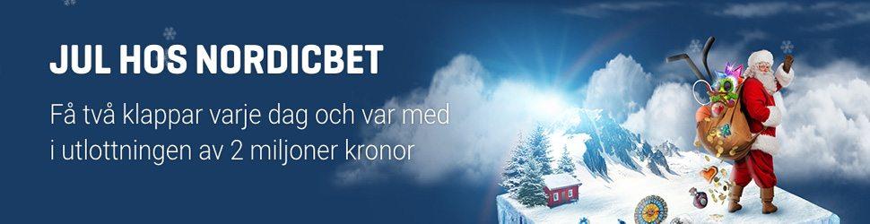 Nordicbet julkalender 2 miljoner kronor