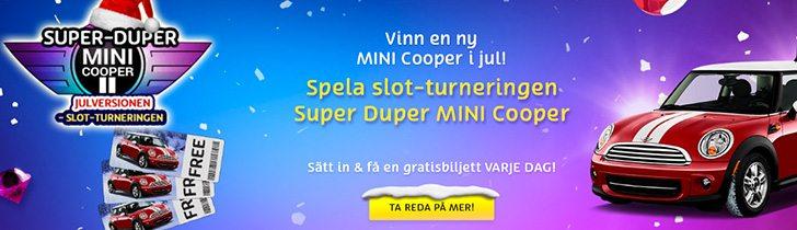PlayOjo julkampanj - vinn en Mini Cooper i jul