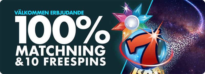 Spins Royale Casinos välkomstpaket ger dig 10 freespins