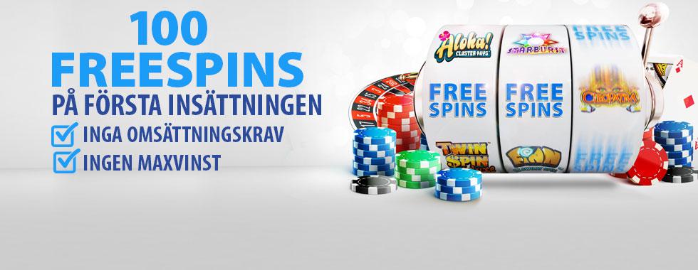 bgo casino freespins utan omsättningskrav på 1:a insättning