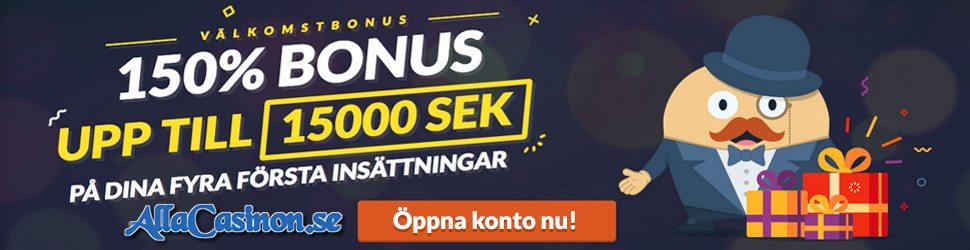 Mr Bet Casino välkomstbonus upp till 15000kr