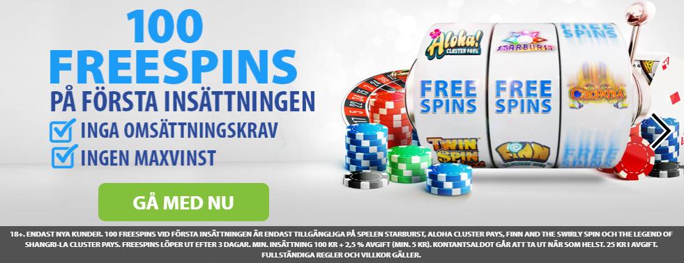bgo casino free spins med inga omsättningskrav och ingen maxvinst