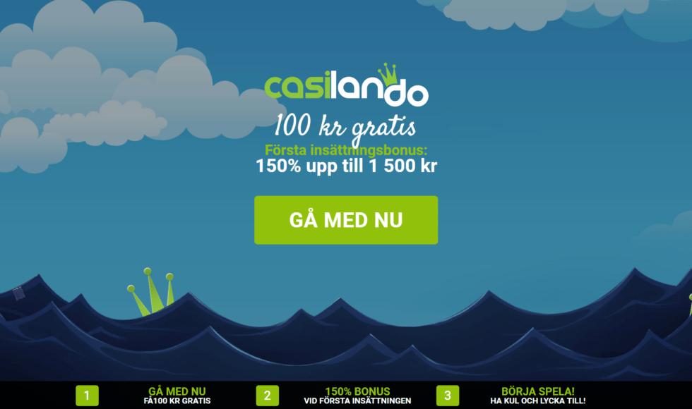 casilando 100 kr gratis