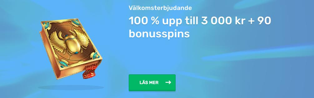 Casilando Casino Välkomstbonus - 100% upp till 3 000kr + 90 bonusspins!