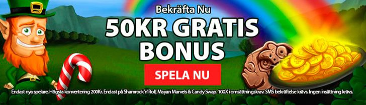 CoinFalls casino ger dig 50 kronor gratis