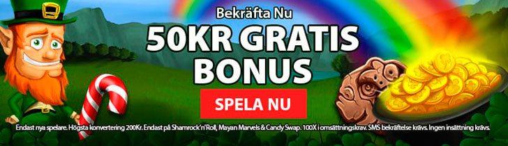CoinFalls casino ger dig 50 kronor gratis