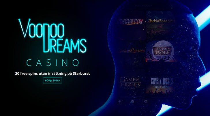 Voodoo Dreams casino free spins utran insättning
