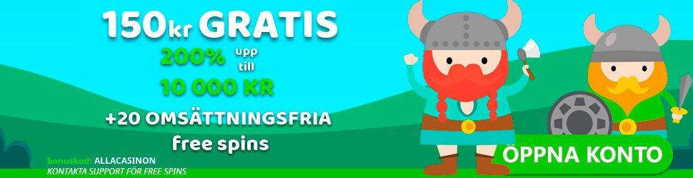 Nordicasino no deposit bonus - få 150 kr gratis utan insättning vid registrering!