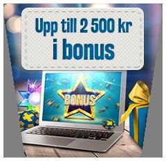 Sveacasino bonus upp till 2 500 kronor