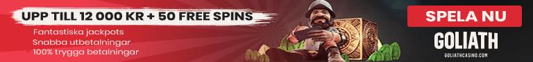 Goliath casino free spins - hämta 50 free spins vid din första insättning
