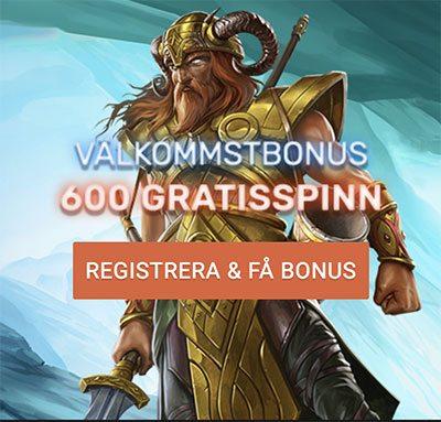QB Casino free spins - upp till 600 free spins i välkomstbonus