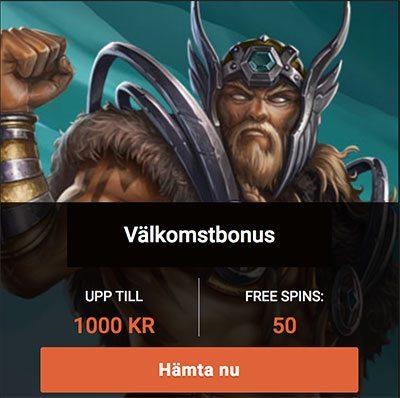 QB Casino bonus upp till 1 000 kr och 50 free spins