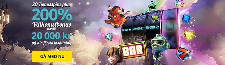 Spin Station casino välkomstbonus - få 200% bonus upp till 20 000 kr