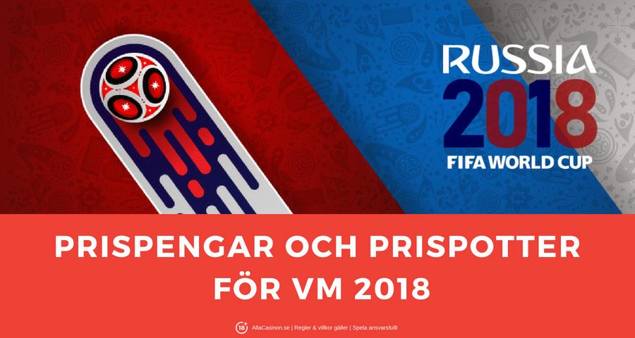Prispengar för VM fotboll 2018