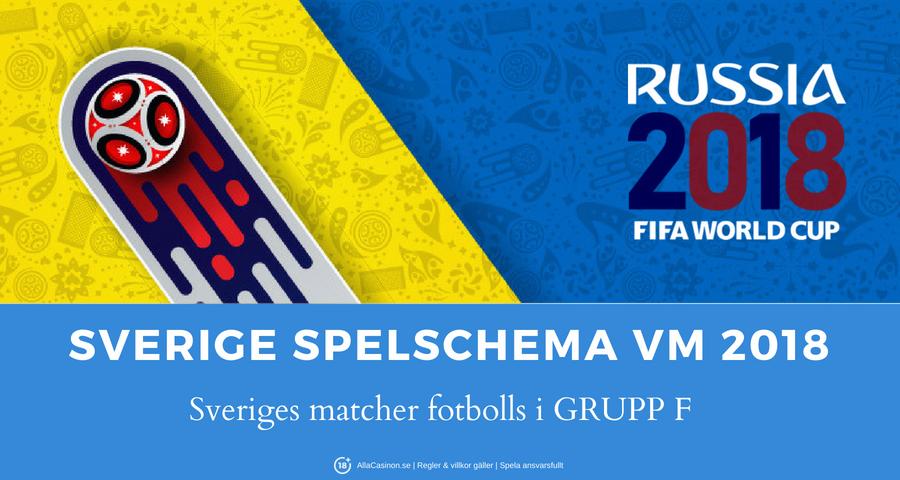 Sveriges matcher fotbolls VM 2018 i Grupp F