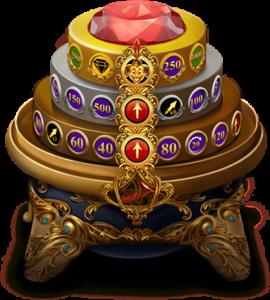 Empire Fortune slot jackpott hjul med tre nivåer