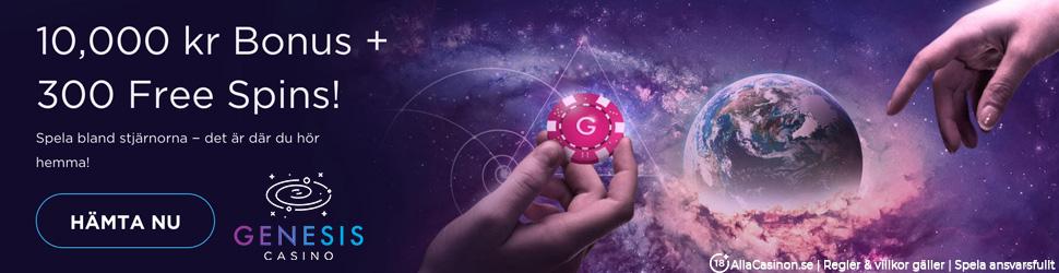 Genesis casino välkomstpaket - hämta upp till 10 000 kr och 300 free spins