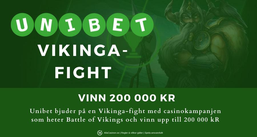 Unibet bjuder på en Vikinga-fight