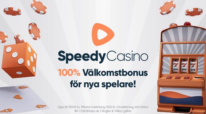 Speedy casino utan krångel: spela utan registrering och konto hos SpeedyCasino!