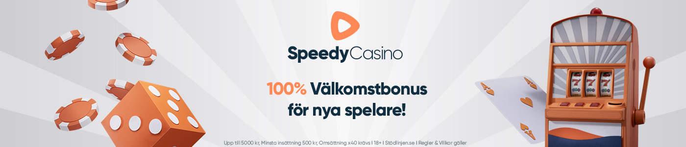 Speedy casino no deposit: få 100% insättningsbonus upp till 10000 kr i välkomstbonus!