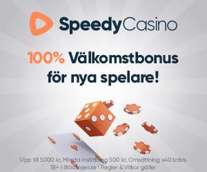 Speedy casino omdöme: vi ger ett positivt och bra omdöme i vår SpeedyCasino recension!
