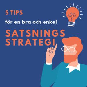 Alla Casinons 5 tips för satsninsstrategi