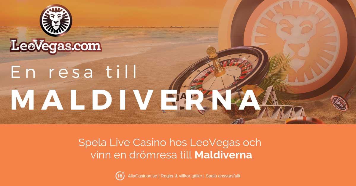 LeoVegas live casino turnering - vinn en drömresa till Maldiverna!