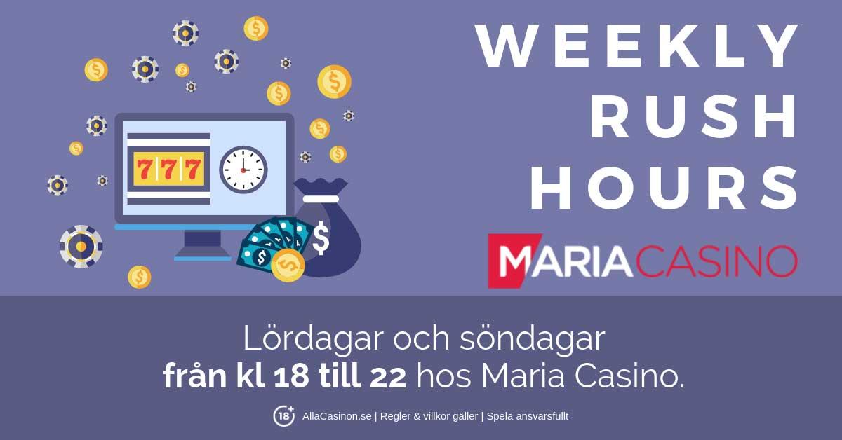 Helgtävling hos Maria Casino - Rush Hour