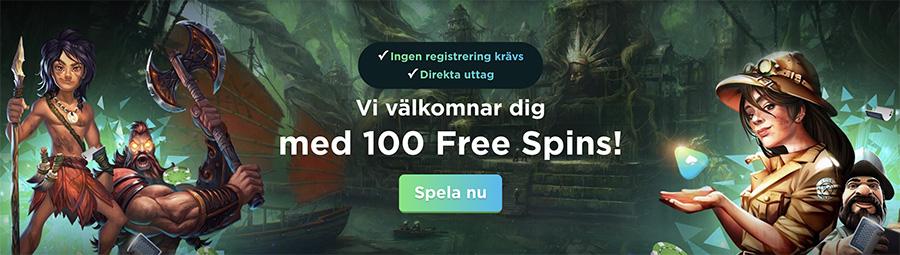 Spela Casino - gör din första insättning och hämta 100 free spins