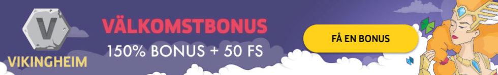 VikingHeim casino bonus - få 150% bonus upp till 2000 kr och 50 free spins i välkomstbonus!