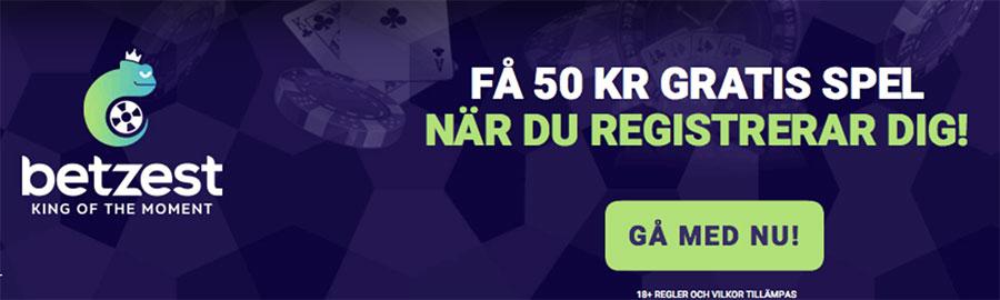 Betzest casino gratis pengar - få 50 kr gratis när du registrerar dig