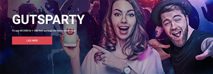 Guts casino välkomstbonus - upp till 2 500 kr samt 100 omsättningsfria snurr