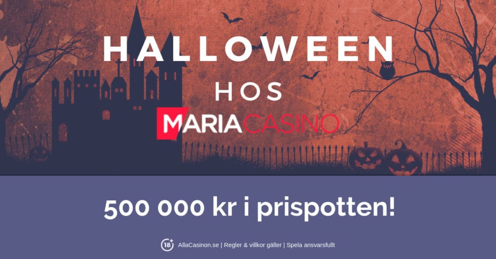 Halloween-festen har startat hos Maria Casino