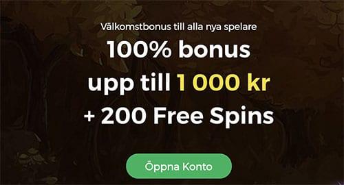 CasinoPop välkomstbonus dubbla din pengar och ger 200 free spins