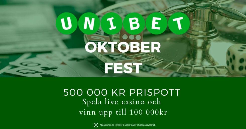 Oktober fest hos Unibet - 500 000 kr i prispott