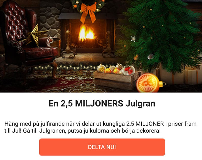 LeoVegas Julkalender 2018 - En 2,5 miljoner julgran