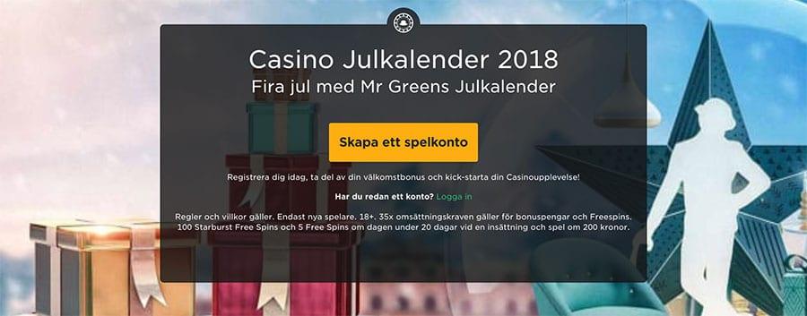Mr Green casino julkalender 2018 - fira jul med Mr Green!