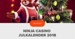 ninja casino julkalender 2018
