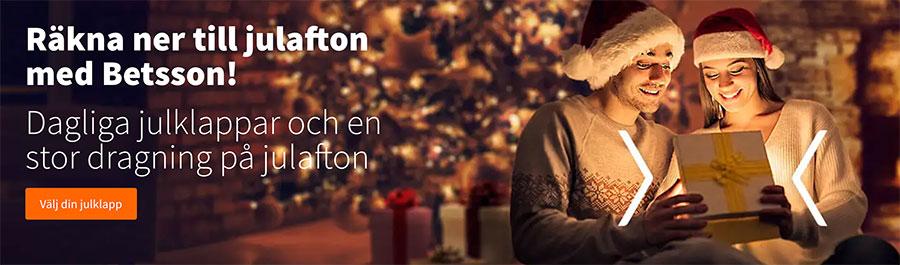 Betsson julkampanj 2018 - dagliga vinster och julklappar