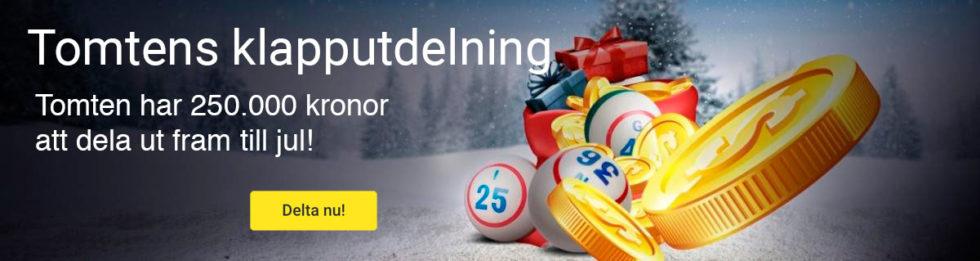 Unibet bingo julkalender -  upp till 250 000 kr i prispott