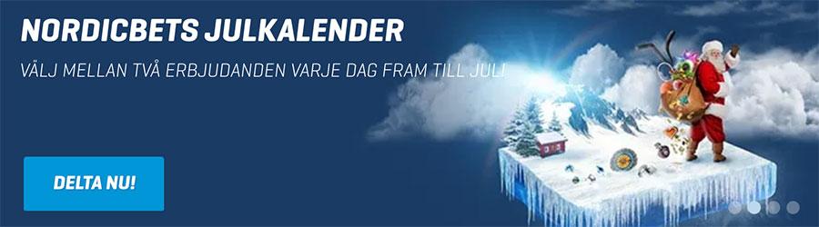 NordicBet casino julkalender 2018 hämta dagliga julgåvor