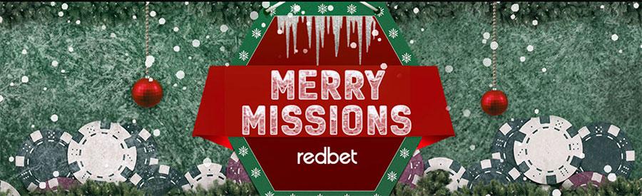 RedBet casino julkalender 2020 - delta på Merry Missions