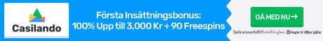 Casilando bonuskod - få 3000 kr + 90 free spins utan någon Casilando bonus codes!